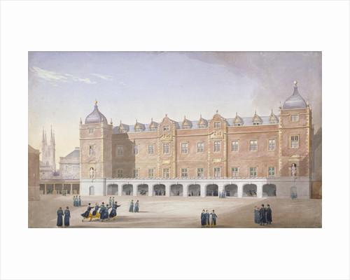 Christ's Hospital School, Newgate Street, City of London by John Shaw