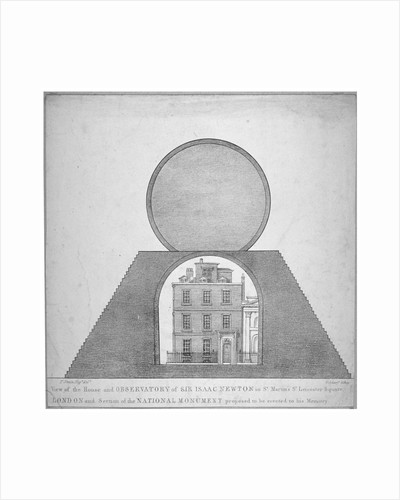 Sir Isaac Newton's house and observatory, 35 St Martin's Street, Westminster, London by George Scharf