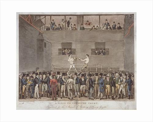 A Visit to the Fives Court by Isaac Robert Cruikshank