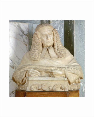 Portrait bust of Lord Brampton, British judge by Joseph William Swynnerton