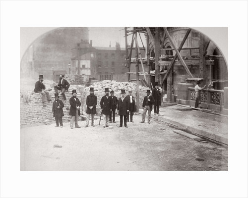 Group portrait of the Holborn Valley Improvements Committee on Holborn Viaduct' London by Henry Dixon