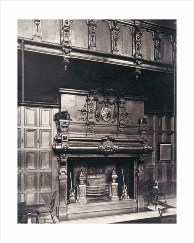 Gallery over the chimney piece in the Great Hall of Charterhouse, Finsbury, London by Henry Dixon