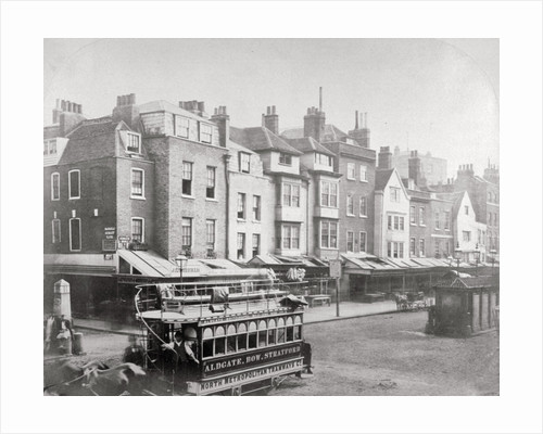 Buildings in Butcher Row, Aldgate High Street, City of London by Anonymous