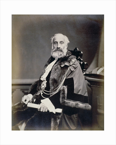Mr Burt, Sheriff of London, wearing scarlet gown, shrieval badge and chain by Maull & Co