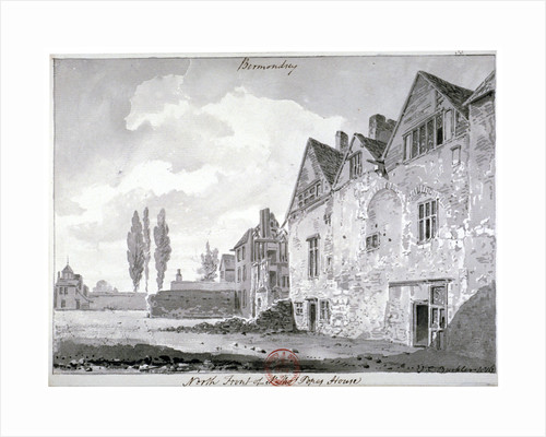 North front of Bermondsey House, London by John Chessell Buckler