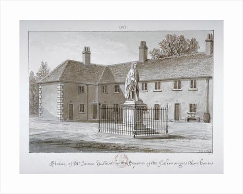 Statue of James Hulbert, St Peter's Hospital, Southwark, London by John Chessell Buckler