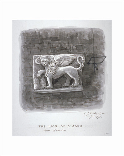 The Lion of St Mark, Tower of London by Anonymous