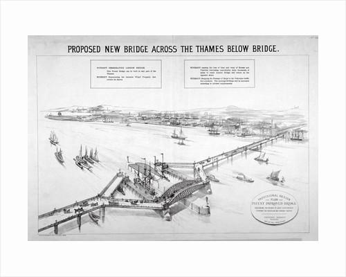Design by Frederic Barnett for a 'duplex' low-level bridge, London by Maclure