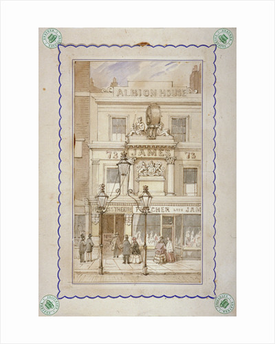 Albion House and the entrance to the Princess's Theatre, Oxford Street, Westminster, London by James Findlay