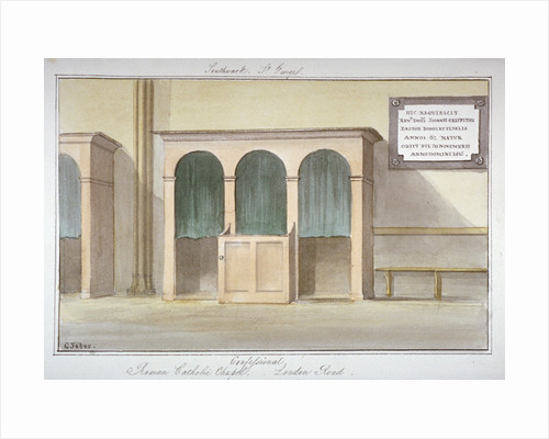 The confessional in the Roman Catholic Chapel on London Road, Southwark, London by G Yates