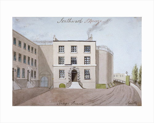 View of King's Bench Prison in St George's Fields, Southwark, London by Calnie