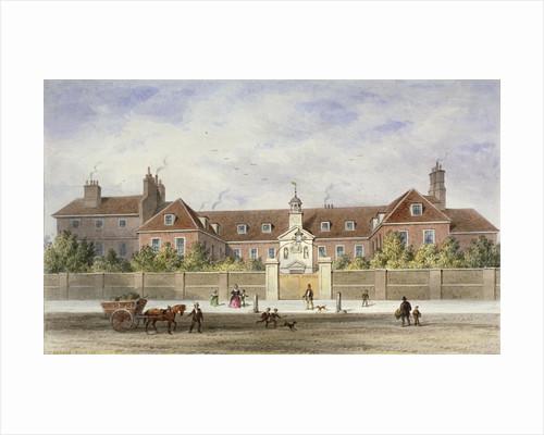 Grey Coat Hospital, Tothill Fields, Westminster, London by Thomas Hosmer Shepherd