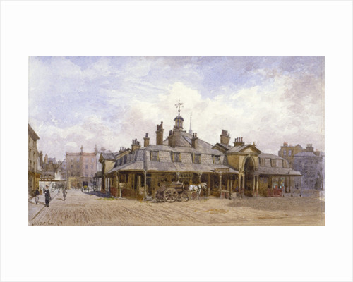 View of Oxford Market, St Marylebone, Westminster, London by Anonymous