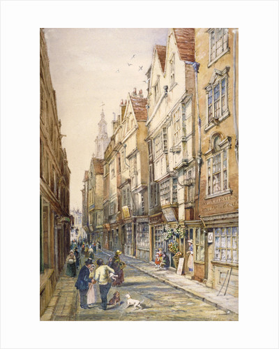Buildings in Wych Street, including the Rising Sun Tavern, Westminster, London by S Read