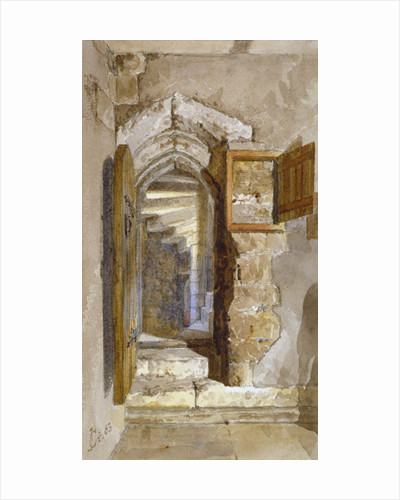 Interior view of the Salt Tower within the Tower of London by John Crowther