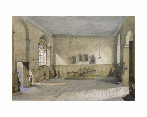 The chapel in Queen's Bench Prison, Borough High Street, Southwark, London by John Crowther
