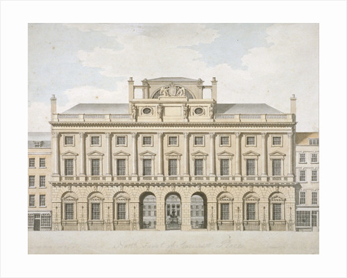 View of the north front of Somerset House in the Strand, Westminster, London by WE Albutt