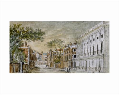 View along Vigo Lane, City of Westminster, London by John Bromley