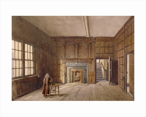 Interior view of Sir John Spencer's room in Canonbury House, Islington, London by John Crowther