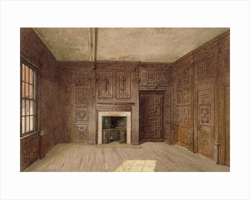 Interior view of the Compton Oak Room, Canonbury House, Islington, London by Anonymous