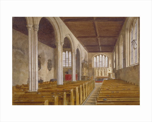 Interior view of the Chapel of St Peter ad Vincula, Tower of London, Stepney, London by John Crowther