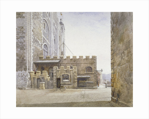 Ordnance Office at the bottom of the White Tower, Tower of London, Stepney, London by John Crowther
