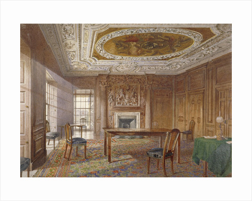 Interior view of the Oak Room, New River Head, Finsbury, London by John Crowther