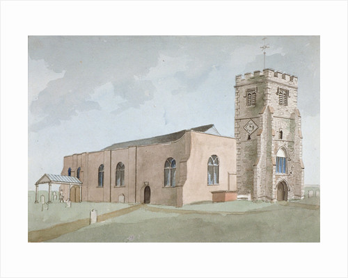 North-west view of All Saints Church, Edmonton, Enfield, London by Anonymous
