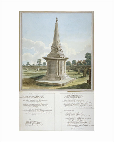 Monument to the Henniker family, churchyard of All Saints, West Ham, Newham, London by Anonymous