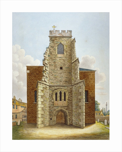 The original tower of the Church of St Lawrence, Brentford, Middlesex by Anonymous