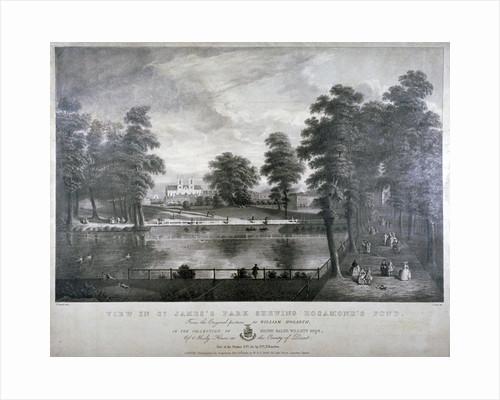 Rosamond's Pond, St James's Park, Westminster, London by F Ross