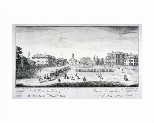 Horse Guards Parade from St James's Park, Westminster, London by John Maurer