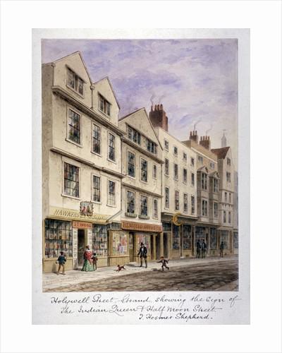 Holywell Street, Westminster, London by Thomas Hosmer Shepherd