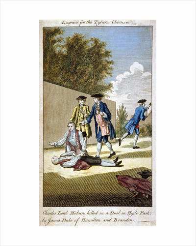 Aftermath of a duel, Hyde Park, Westminster, London, 1712 (1768) by Anonymous