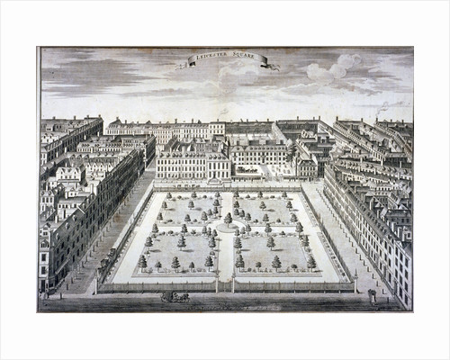 Bird's-eye view of Leicester Square, Westminster, London by Day & Son