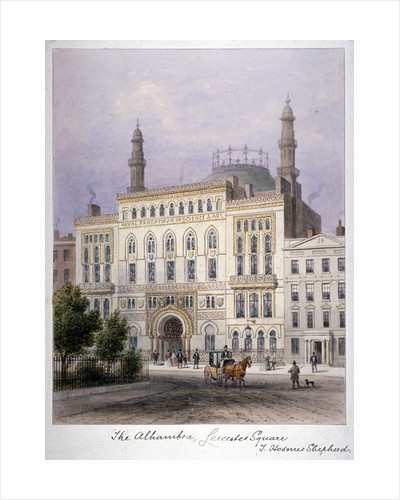 The Alhambra, Leicester Square, Westminster, London by William Dickes