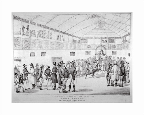 Auction rooms at Aldridge's Horse Repository, St Martin's Lane, Westminster, London by Anonymous