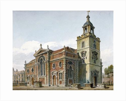 Church of St Mary, Whitechapel, London by John Coney