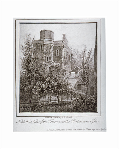 North-west view of the Jewel Tower, Old Palace Yard, Westminster, London by John Thomas Smith
