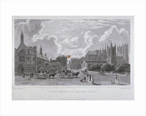 View from Old Palace Yard, Westminster, London by Joseph Constantine Stadler