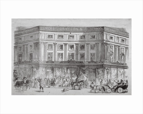 Mercers' shop, Regent Circus, Westminster, London by H Leighton