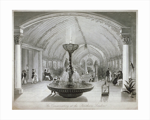Interior of the conservatory in the Pantheon on Oxford Street, London by Anonymous