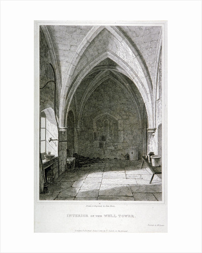 Interior view of the Well Tower, Tower of London by Edward Blore
