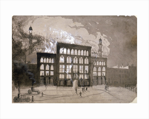 Fire at the Alhambra Theatre, Leicester Square, London, 1882 (1883) by William Dickes