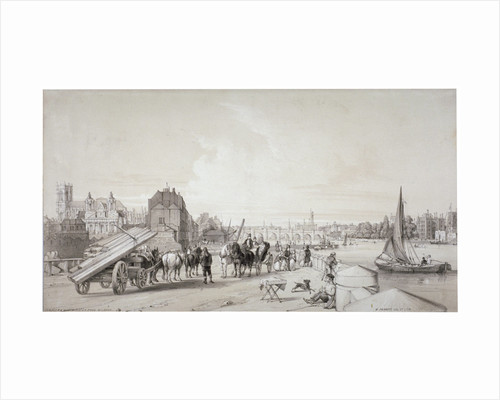 Millbank, Westminster, London by William Parrott