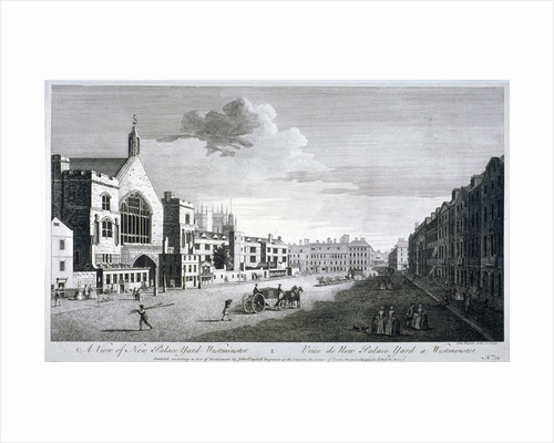 New Palace Yard, Palace of Westminster, London by John Boydell
