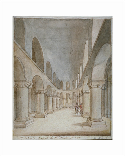 Interior view of St John's Chapel, Tower of London by Frederick Nash