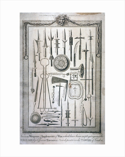 Weapons kept at the Tower of London by G Walker
