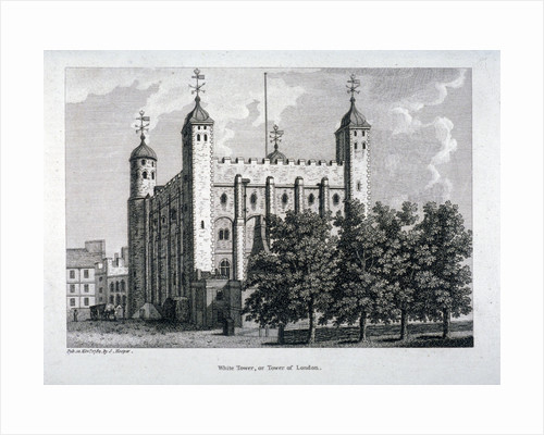 View of the White Tower, Tower of London by Anonymous