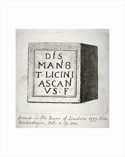Copy of an inscription found in the Tower of London by Willem Wegewart I